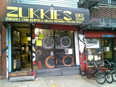ZUKKIES IS A FULL SERVICE BIKE SHOP . NEW & USED BIKES - RENTALS - TRADES - REPAIRS - LAYAWAY PLAN - GIFT CERTIFICATES- SPECIAL ORDERS & FULL INVENTORY ON PARTS & ASCESORIES .COME VISIT US AT: 279 BUSHWICK AVE BROOKLYN NY (BETWEEN JOHNSON AVE & BOERUM ST. )CALL US 718 456 0048 OR VISIT & LIKE US ON FACEBOOK/ ZUKKIES BIKE SHOP